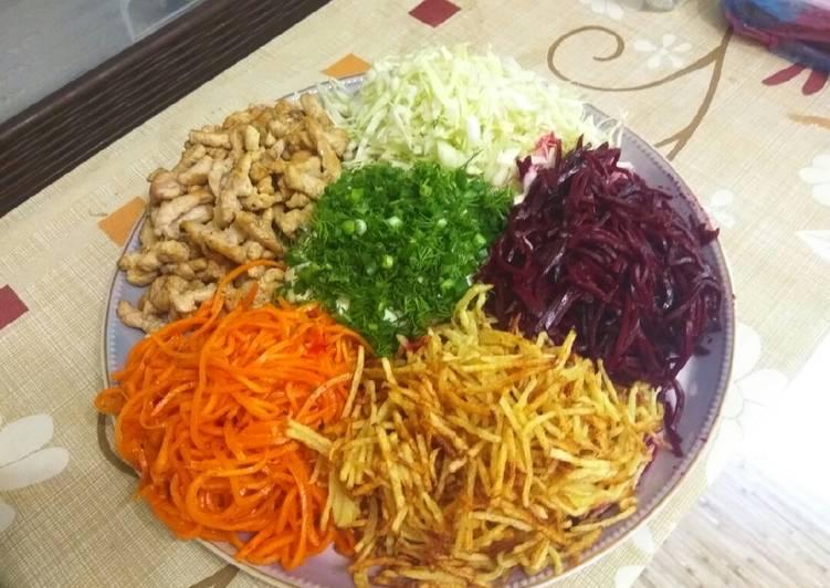 салат цветик-семицветик рецепт с фото