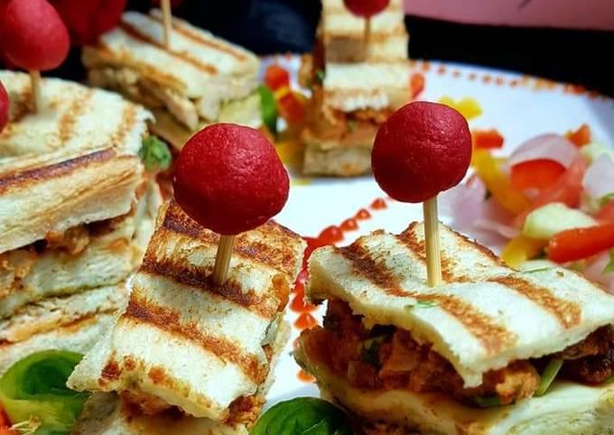 Recipe: Tasty CHICKEN Tikkah Club sandwiches