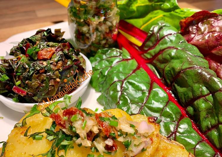 Recipe: Perfect Rotbarschfilet im Kartoffelmantel und Mangold
