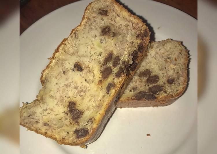 Banana Bread aux pépites de chocolat 🍫🍌