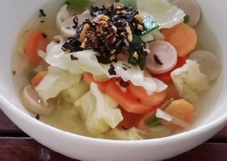 Resep Sop sayur sosis Yang Mudah Enak