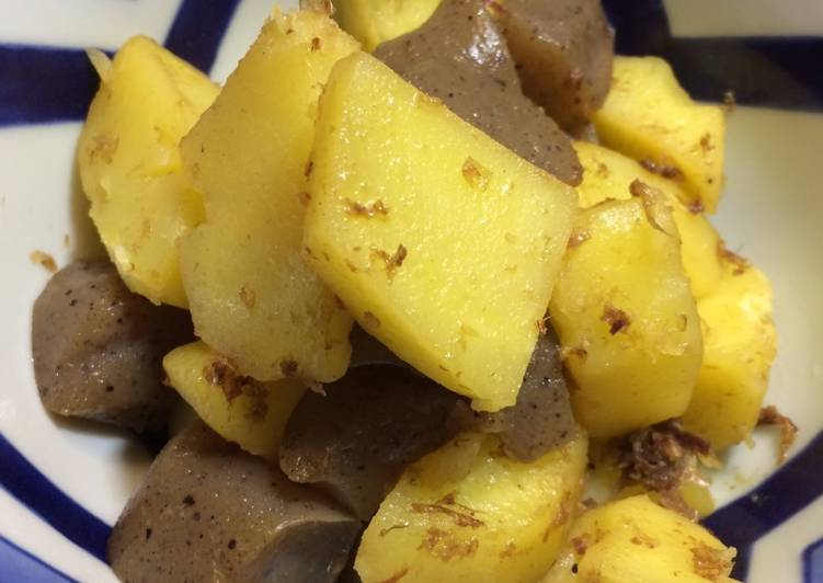 Step-by-Step Guide to Prepare Award-winning #4 Easy Japanese cooked dish with Potato and Dried Bonito Flakes