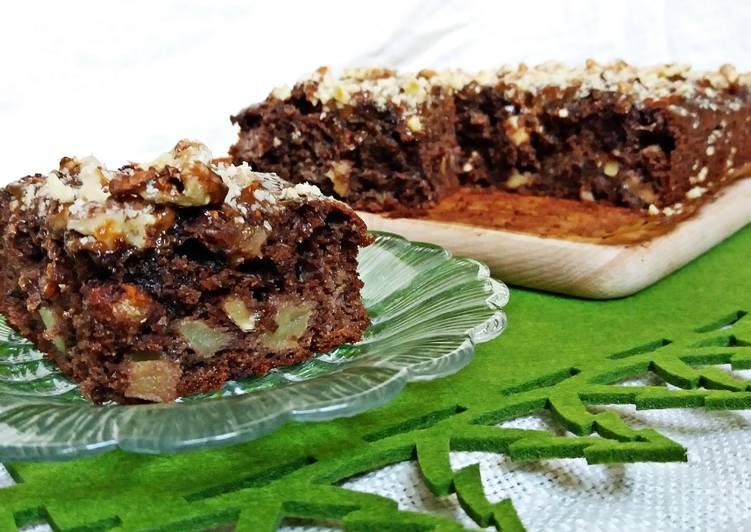 Kakaowo -czekoladowe ciasto Wiewiórka lub zwane także jako ciasto Salceson albo Śmietnik