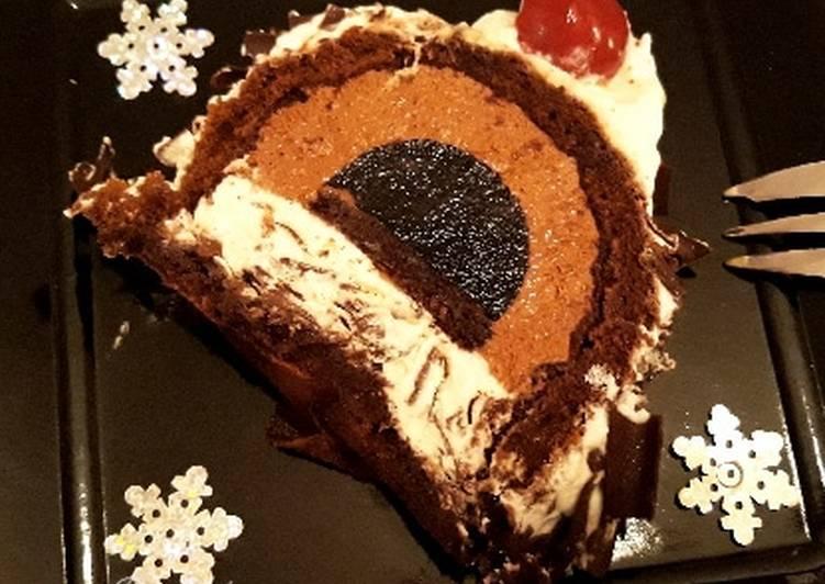 Recette Des ☆Bûche Forêt Noire☆ Dessert de Noël☆