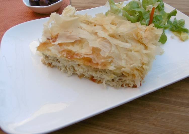 The Most Practical Way To Cook Tasty Chicken baked with Phyllo & Feta Cheese (Kotopita)