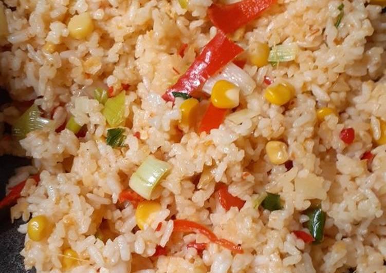 Nasi Goreng simpel jagung manis