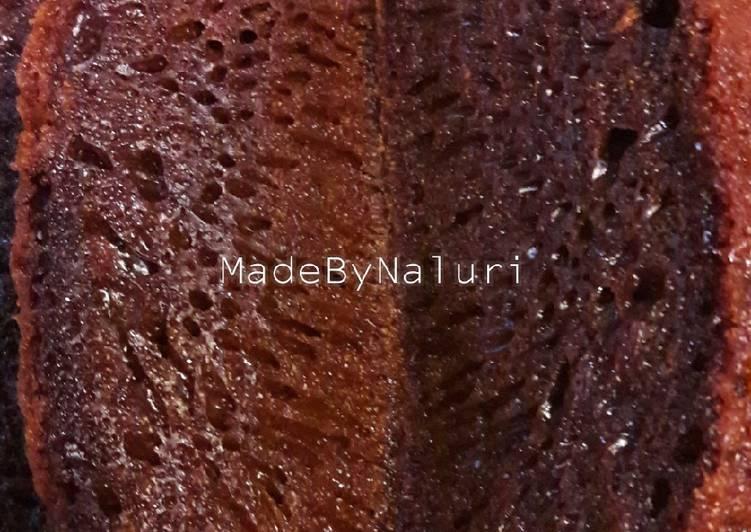 cara menyajikan Bolu Karamel / Sarang Semut - Sajian Dapur Bunda