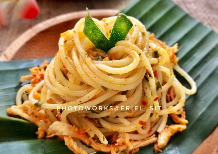Spaghetti ala ayam sisit Bali (#pr_pasta)