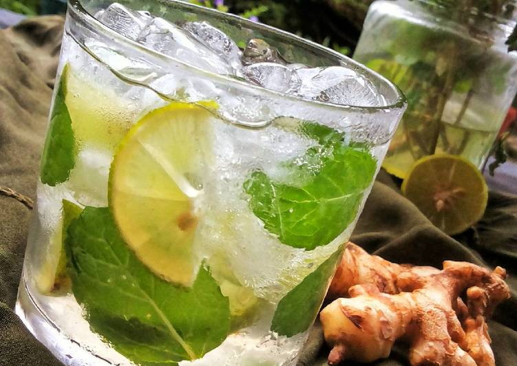 Spicy Ginger Mint Iced