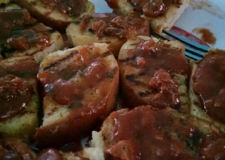 Resep Garlic bread ala PH Favorit