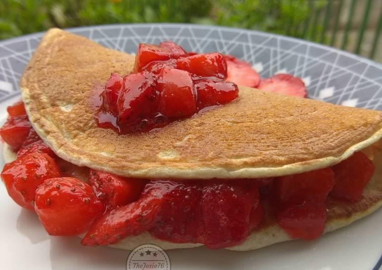 Pancake con fragole