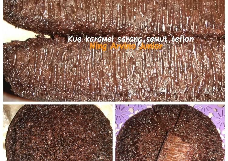Kue karamel sarang semut teflon - cookandrecipe.com