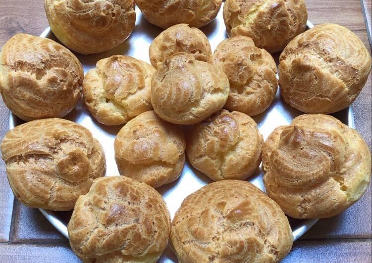 Kue Sus / Cream Puff / Choux Pastry (resep kulitnya saja)