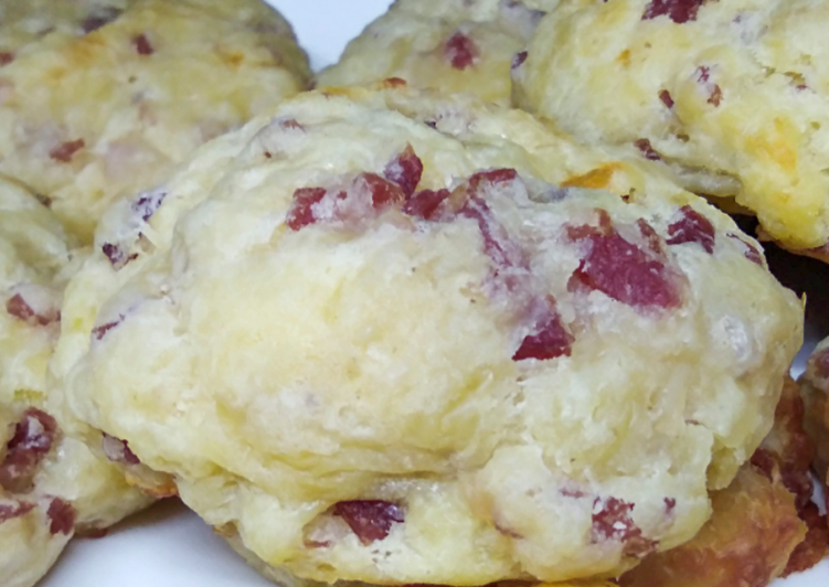 Cookies salés lardons et mozzarella