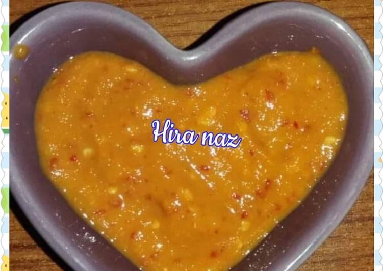 Recipe of Top-Rated Hot & Spicy Garlic Mango Chutney