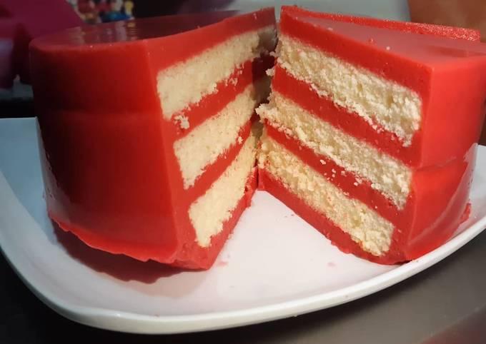 Resipi Pandan Layer Cake versi Red Velvet
