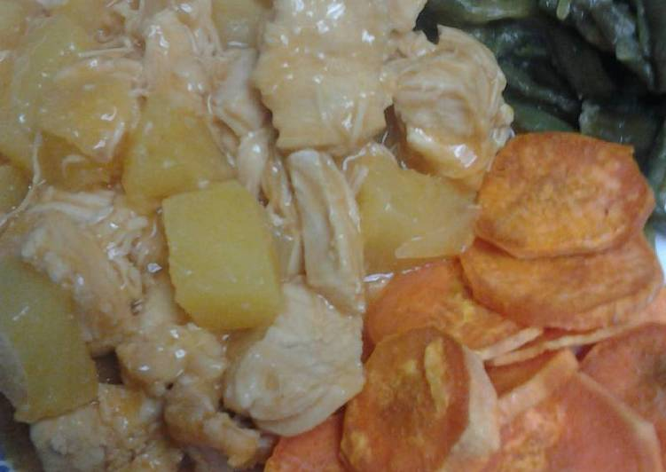 Recipe of Any-night-of-the-week Drunken Pineapple Chicken