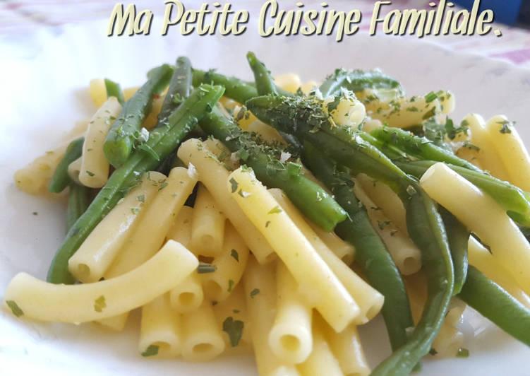 recette One pot pasta aux haricots verts le délicieux