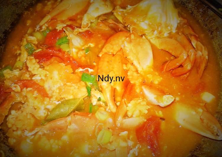 14. Kepiting+ telur nya masak saus asam manis pedas