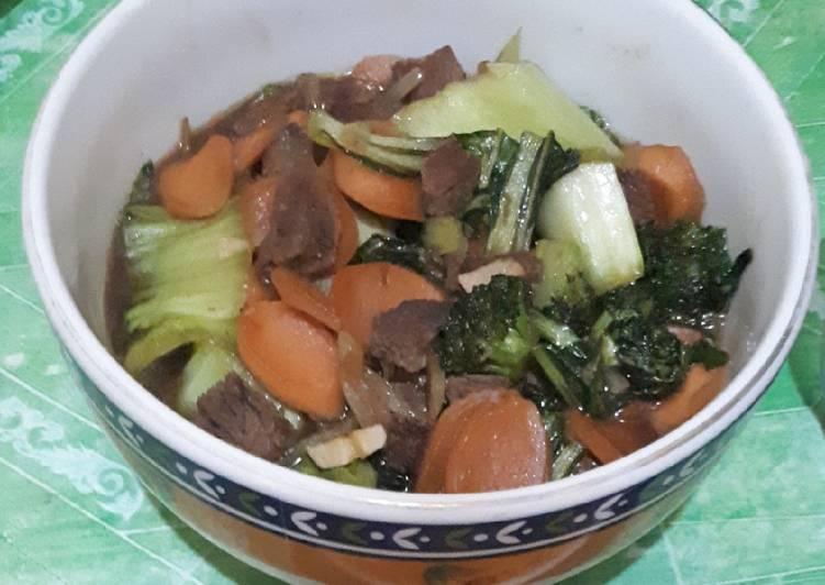 Daging sayur saus tiram