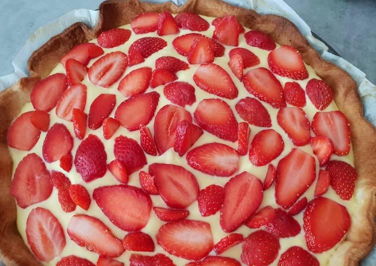 Tarte tiramisu fraise