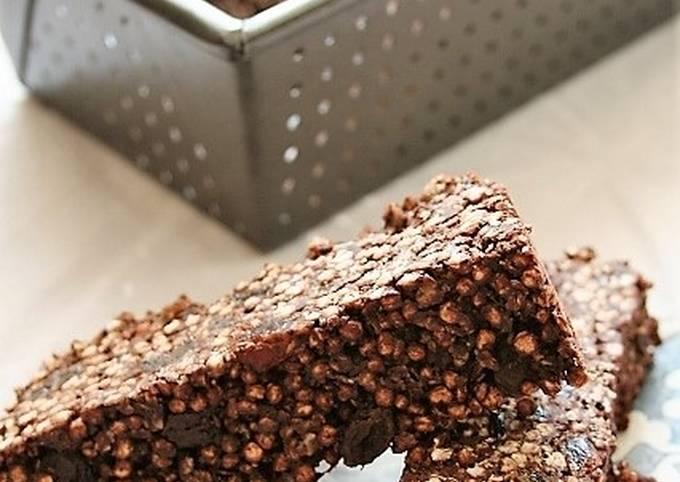 Barres chocolatées aux céréales  sans gluten, sans lait, sans oeufs