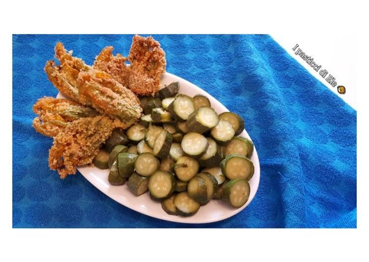 Fiori di zucchina fritti senza glutine