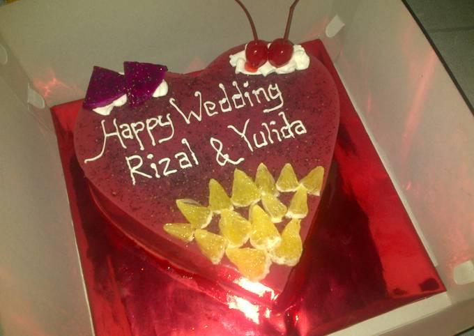 Puding buah Naga special wedding