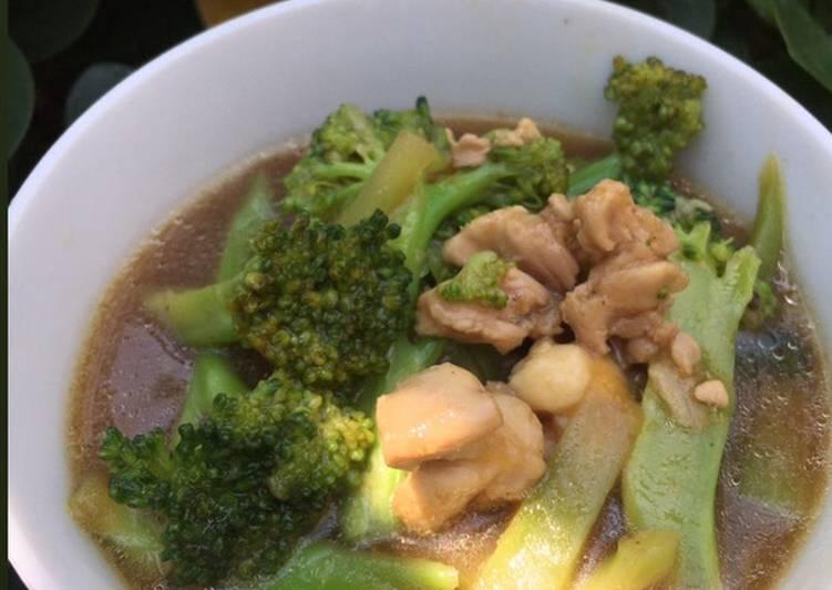Tumis brokoli ayam 🥦🍗