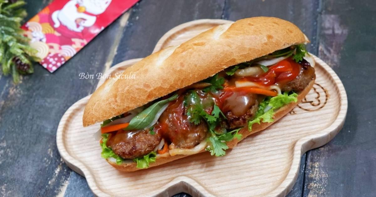 Cách Làm Món Bánh Mì Thịt Nướng của Bòn Bon - Cookpad