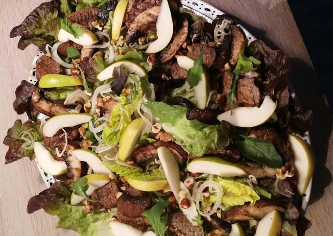 Opskrift På Hjemmelavet Oksekøds salat På