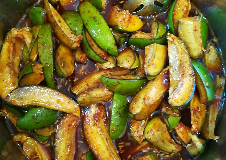 10 Minute Step-by-Step Guide to Prepare Winter Instant raw mango pickle
