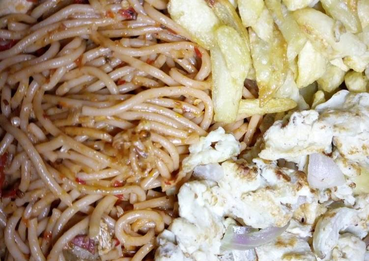 Easiest Way to Make Speedy Supergetti wit chips and egg