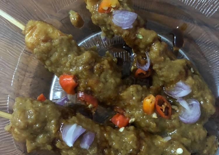 Sate Ayam saus kacang