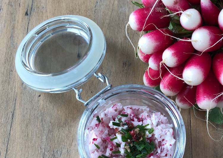 La Meilleur Recette De Rillettes de radis roses