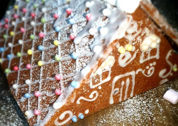 Steps to Prepare Homemade Gingerbread house