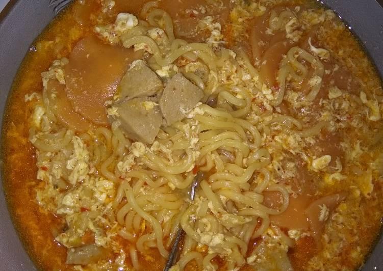 Resep Seblak Mie sedaap ayam bawang kuah Yang Gampang Bikin Nagih