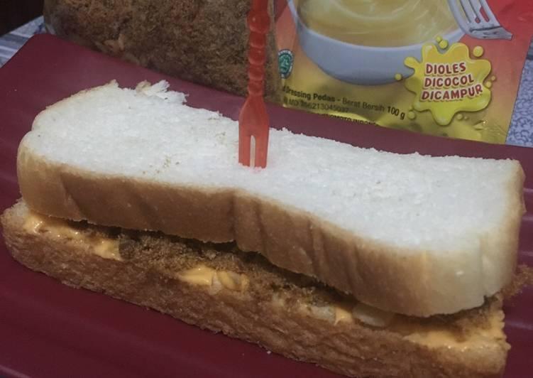 Roti abon pedas simpel 3 bahan ala fe