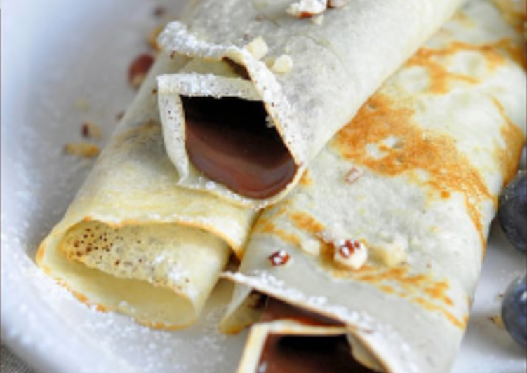 Nutella Pancake Rollups