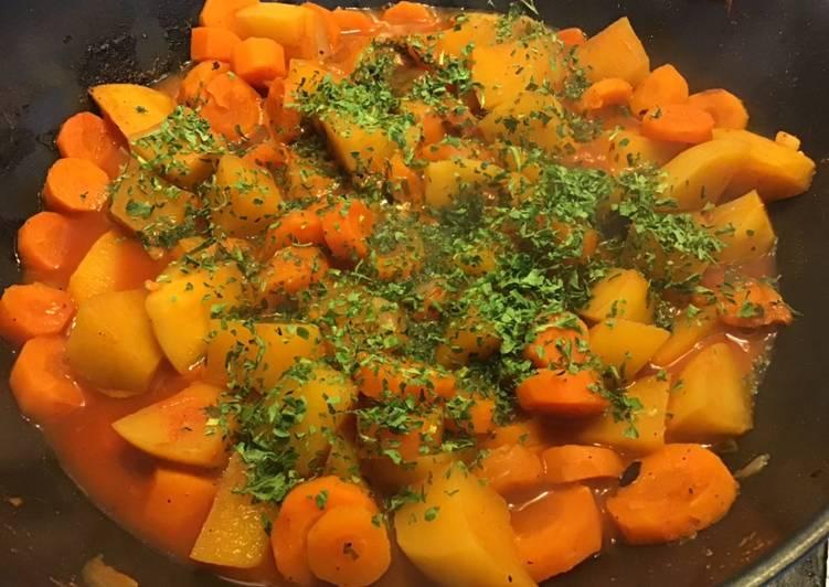 Comment Préparer Des Carottes et navets jaunes au paprika et persil