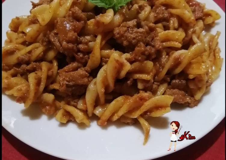 Recipe of Speedy Spicy Mince Pasta