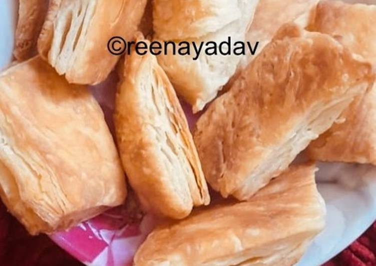 Living Greener for Greater Health By Eating Superfoods Homemade khari biscuit with homemade puff pastry sheet