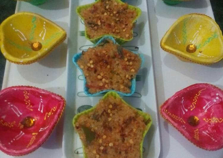 Spring onion dalia cupcakes