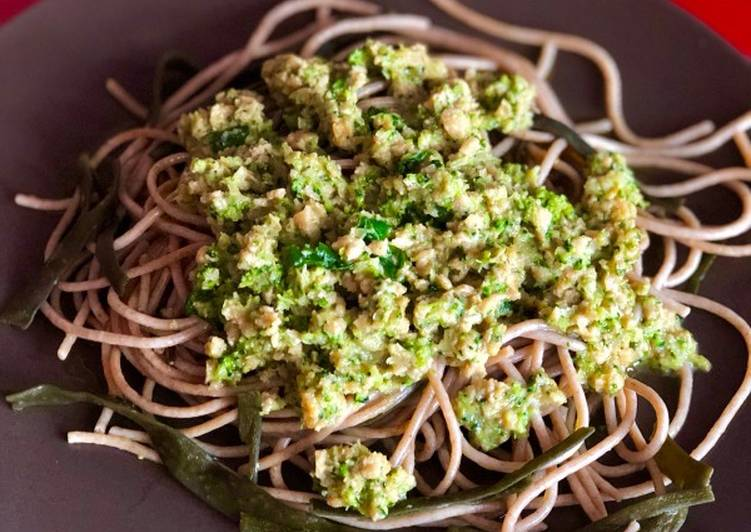 Espagueti de espelta y alga de mar vegano🌱vegetariana