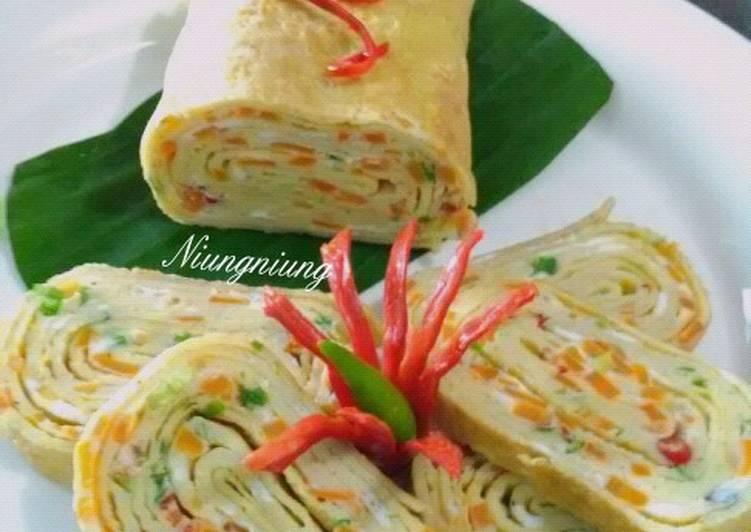 Resep Tamagoyaki (Telur dadar gulung ala Jepang) Paling Gampang