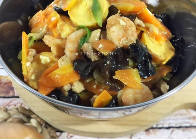 Sapo Tahu ayam udang - resep asian food
