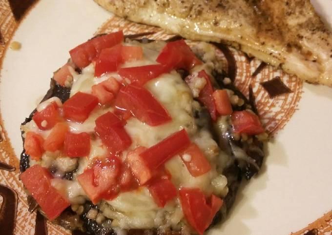 Easiest Way to Make Tasty Cheesy Grilled Portobello (Keto friendly)