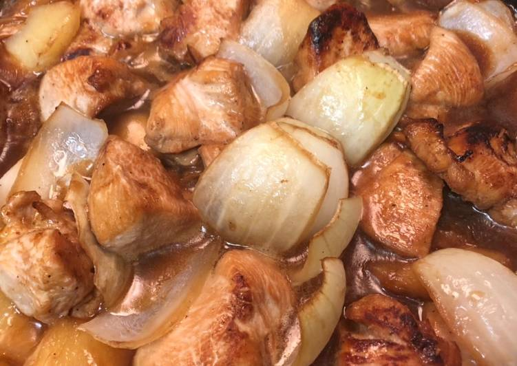 Steps to Prepare Super Quick Homemade Pineapple Chicken Teriyaki