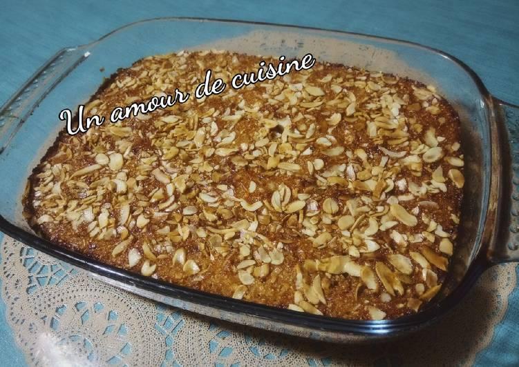 Khobz tounes/ Gâteau a base d'amandes imbibé