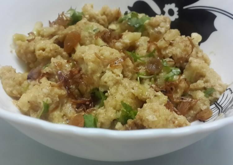 My Grandma Gobi Malai Curry in microwave